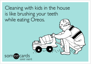 cleaning house - oreos